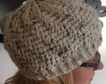 Stepping Texture Crochet Hat