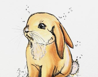 Hare, rabbit, art print, print, print