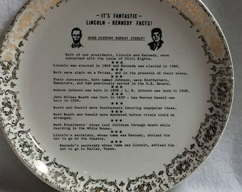 Lincoln - Kennedy Fantastic Facts Collector Plate (#006)