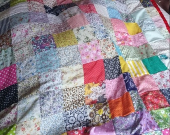 Patchwork quilt can be made any size or colour prices and time varies depending on costs