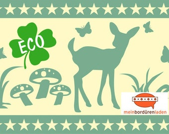 ECO kids trim: small deer - borders for children, border for allergy sufferers, wall border, nonwoven, wall trims, deer
