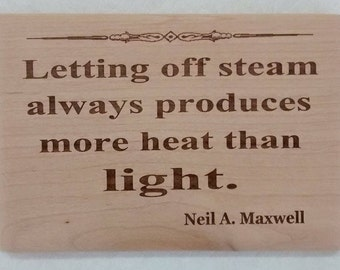 LDS quote plaque