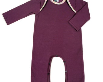 HUMMINGBIRD body legs long jersey bio purple