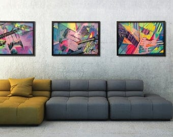 Living Room Paintings Original  Triptych  Abstract Original Paintings for  Sale  Set of 3Living room painting   Etsy. Living Room Paintings. Home Design Ideas