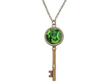 Kiwi necklace, handmade fruit pendant, green jewelry, summer fruit necklace, Kiwi Jewelry