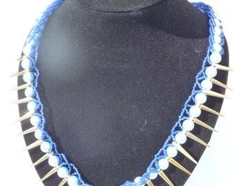 Blue Cleopatra Necklace
