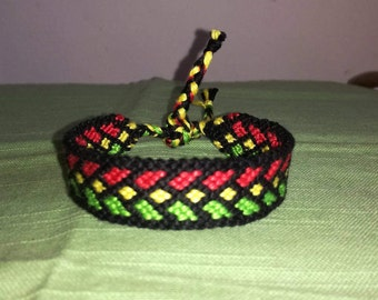 Reggae bracelet Braided bracelet Friendship bracelet Handwoven bracelet Handmade jewelry