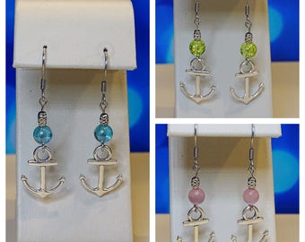 Anchor Earrings. Summer jewelry