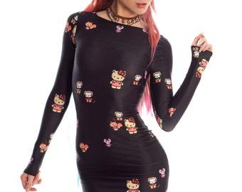 Planet Vandy X Hello Kitty Ebony Mini Dress