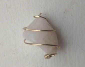 Quartz Wire Wrapped Pendant