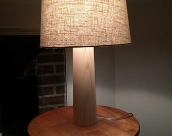Solid Ash tapering column lamp.