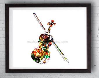 Violin, Violin Art, Violinist Gifts, Instruments, Musician Gift, Music Teacher, Instrument Art, Violinist, String Instrument, Violin and Bow