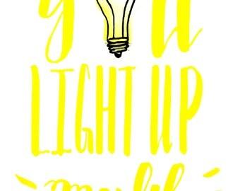 You Light Up My Life Gicleé Print/Card