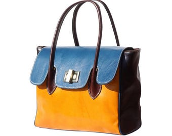 Viterbo: Handmade Italian bag, genuine leather, shoulder bag