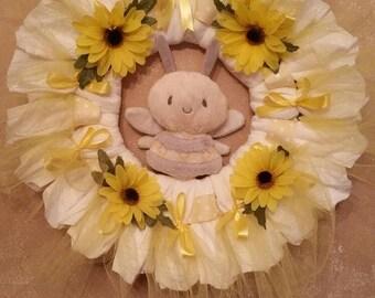 Custom made baby wreath created to match your nursery decor