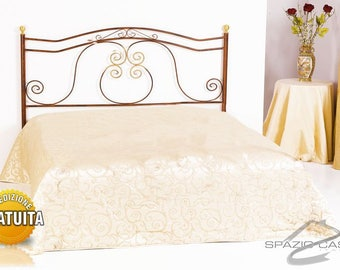 Masthead/artisan Baroque wrought iron bed headboard