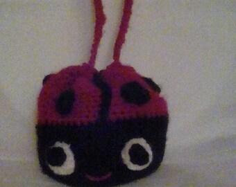 Crochet ladybug bag