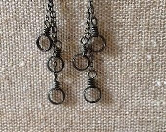 Waterfall Earrings (gunmetal)