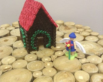 Quilled Fairy House