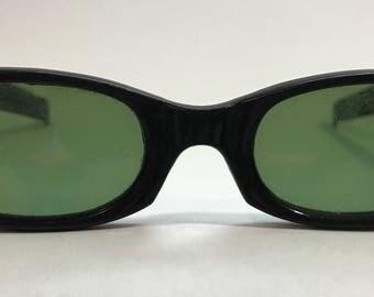 1950-60's   Mod Style Sunglasses   Black   No Prescription