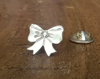 Sterling Silver Bow Pin