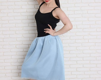 Women tulle skirt, Neoprene skirt, Length tulle skirt, Tutu skirt, Carrie tulle skirt, Wedding tulle skirt.