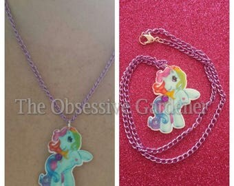 Retro My Little Pony Pendant and Chain Handmade Necklace