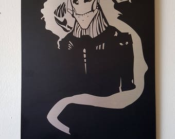 """Curse of the Former Self - 10"""" x 15"""" Decal art on brushed aluminum"""