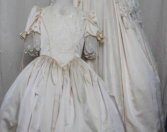 Victorian Wedding Gown & Flower Girl
