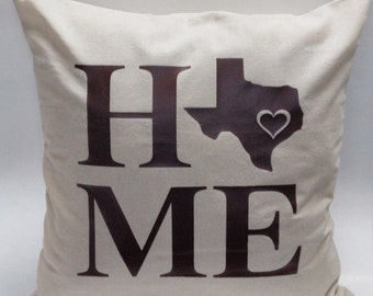 State Pillow Cover - Decorative Pillow - State Pillows - Home Sweet Home Pillow - State Home Decor - State Pillow Cover -  PILLOW COVER ONLY