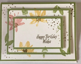Handmade Card, Happy Birthday Card, Birthday Card, Stamped Card