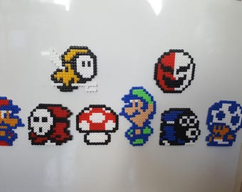 Set Of 8 Super Mario Bros 2 Magnets Beads