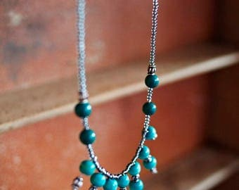 Statement in silver & turquoise