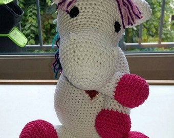 Unicorn 40cm crochet