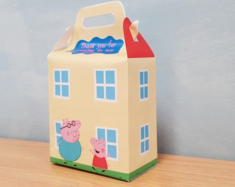 HOUSE - BOX PEPPA pig party- candy birthday - favor - DiY
