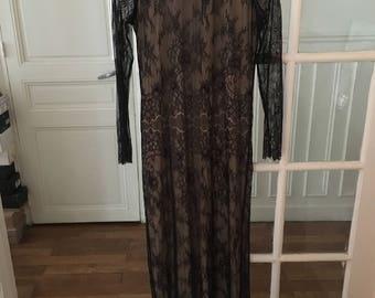 SWILDENS / long Black Lace dress