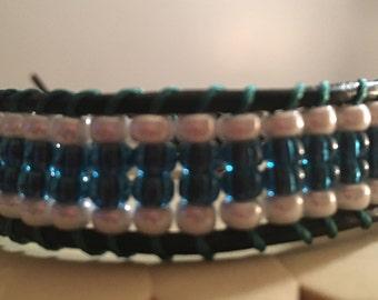 Leather single wrap bracelet