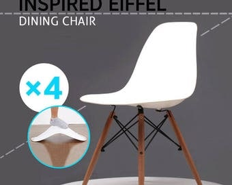 Mof Eames inspires style dining  Chair lounge chair  set of 4