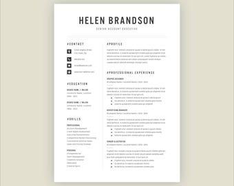 Best Sites To Post Resume Resume Design  Etsy Design Resumes Pdf with Modern Resume Formats Word Resume Template Professional Resume Modern Resume Design Cv Template For  Ms Word Ba Resume Excel