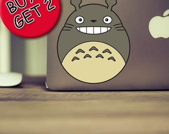 Studio Ghibli Totoro MacBook Decal Spirited away Princess mononoke Anime My neighbor totoro Hayao miyazaki Miyazaki Kawaii