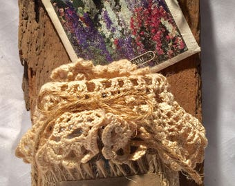 Vintage barn wood seed jar plaque.
