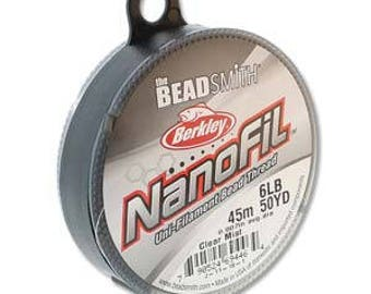 NanoFil, 6 LB, 50 yard spool, Crystal