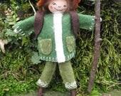 The Woodland Wanderer Art Doll Miniature Ornament OOAK
