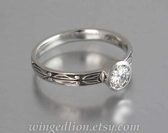 AUGUSTA 14K gold Moissanite solitaire engagement ring