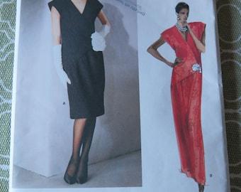 Vintage 80s Vogue Paris Original 1650 Christian DIOR Dress Sewing Pattern size 10 B32.5
