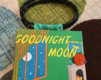 Kids crayon caddy Goodnight moon Hardback book PURSE one of a kind by GmaJanisew
