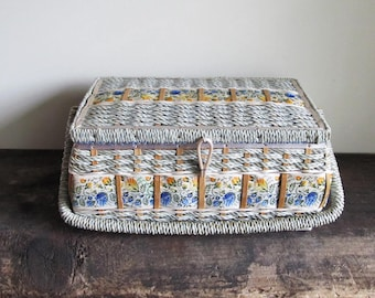 Vintage Dritz Woven Sewing Basket