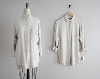 linen gauze shirt | woven blouse | long collared blouse