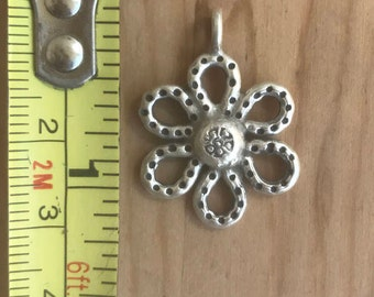 Hill Tribes Dotted Flower Pendant