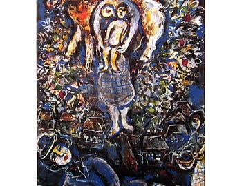 Marc Chagall - Mother and Child - Fine Art Print - 1970 Vintage Book Page Reproduction - 10 x 11